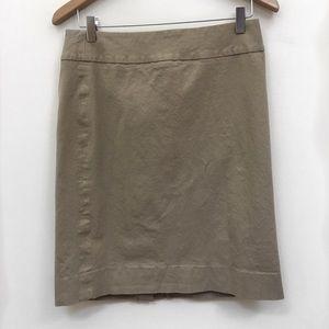 Banana republic beige pencil skirt size 8